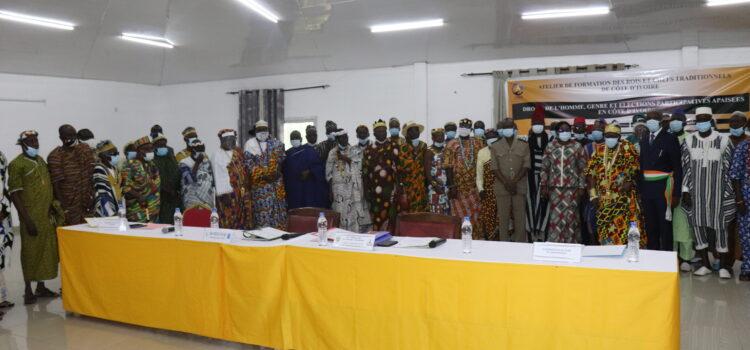 Présidentielles 2020/ Genre et élections participatives apaisées; Plus de 80 chefs traditionnels formés par le CNDH à Yamoussoukro