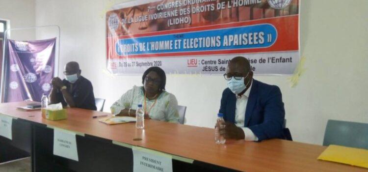 7è congrès ordinaire de la LIDHO : Neth Willy Alexandre élu président du bureau exécutif national