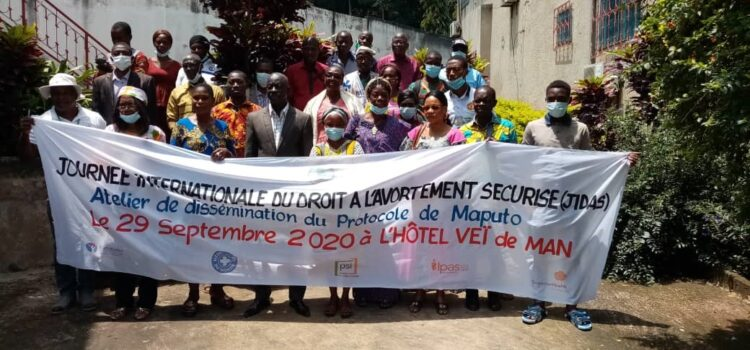 Droit de la femme/La CRDH Tonkpi soutient une activité sur l'avortement sécurisé