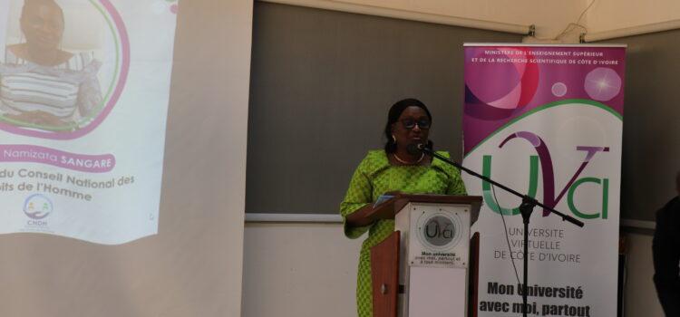 Journées AKWABA 2021 de l'Université Virtuelle de Côte d'Ivoire : La Présidente du CNDH invite les étudiants à l'excellence